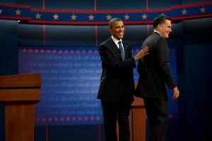 Barack Obama and Mitt Romney in Denver, CO - October 3rd