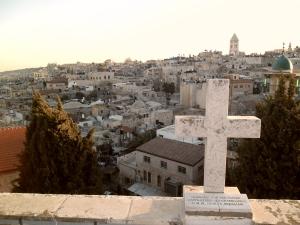 Vista de Jerusalém a partir do terraço do hospício austríaco